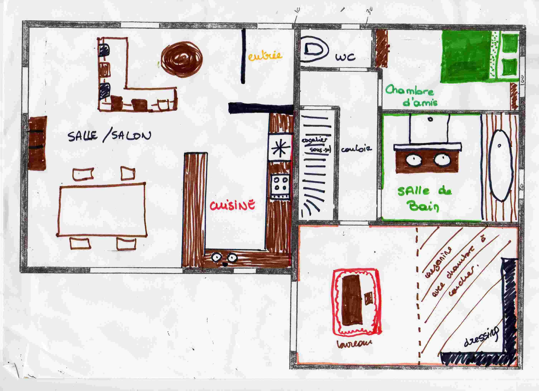 Croquis Pièces Maison : A quoi doit en principe ressembler notre maison ·